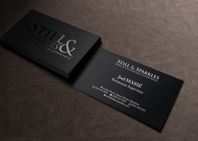 Still and Sparkles Business Card