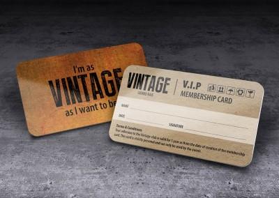 Vintage membership card